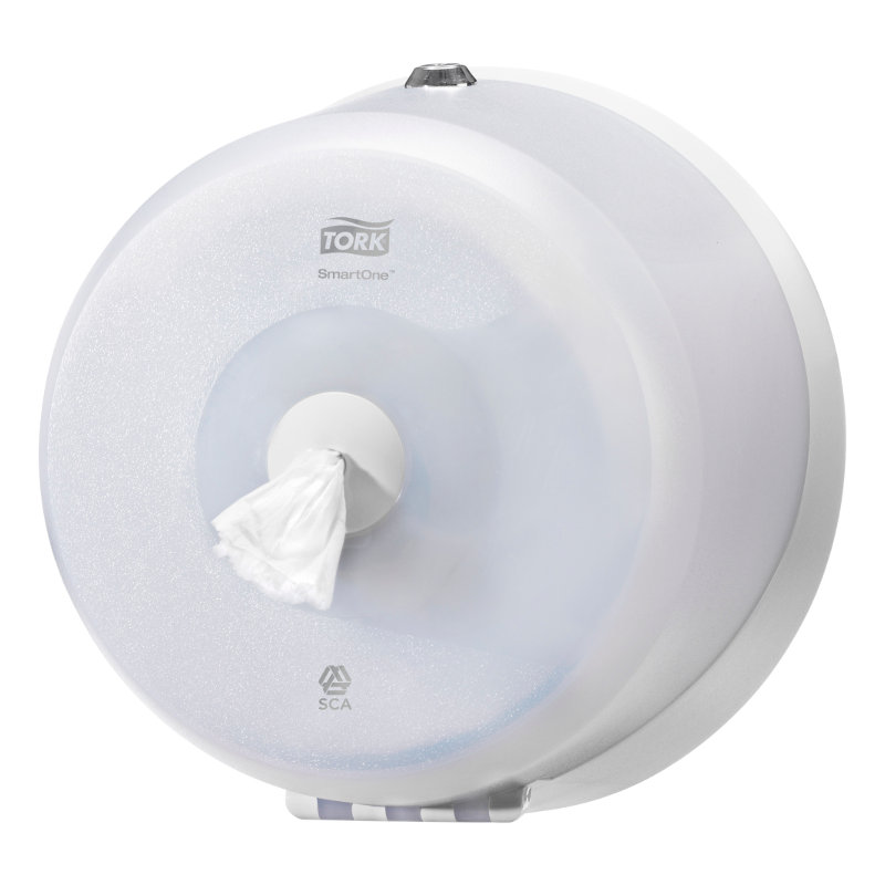 DISTRIBUTEUR SMART ONE MINI T9 SIMPLE BLANC - Pour Papier toilette rouleaux