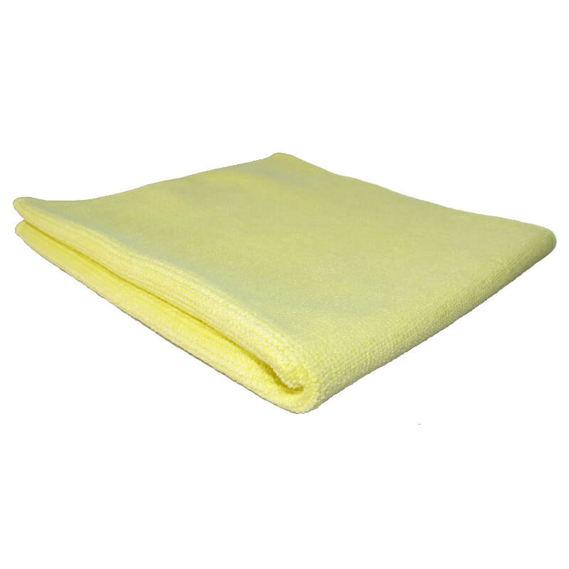 CHIFFONS MICROFIBRE TRICOT LUXE 40x40 JAUNE - Absorption, essuyage, liustrages