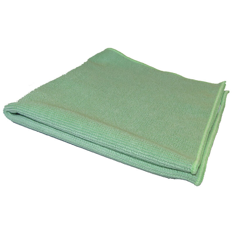 CHIFFONS MICROFIBRE TRICOT LUXE 40x40 VERT - Absorptions, essuyages, liustrages