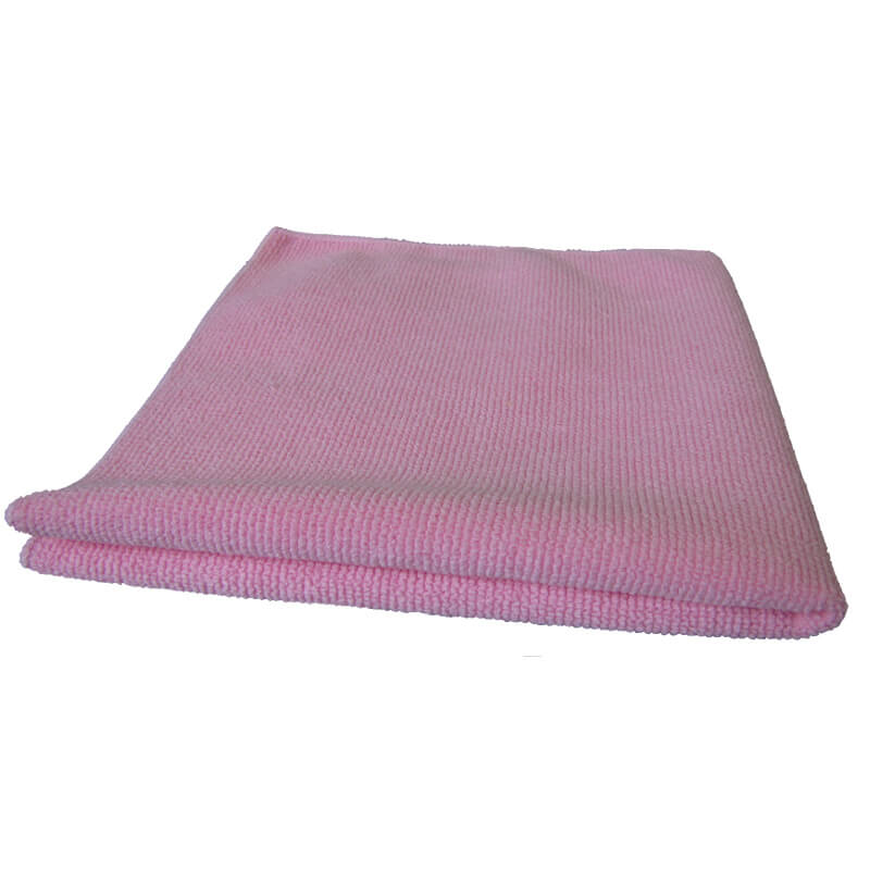 CHIFFONS MICROFIBRE TRICOT LUXE 40x40 ROSE - Absorptions, essuyages, liustrages