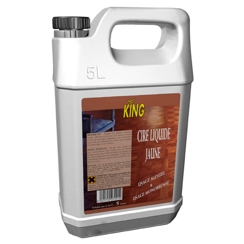 CIRE JAUNE KING - Bidon 5 L - Brillant éclatant et durable