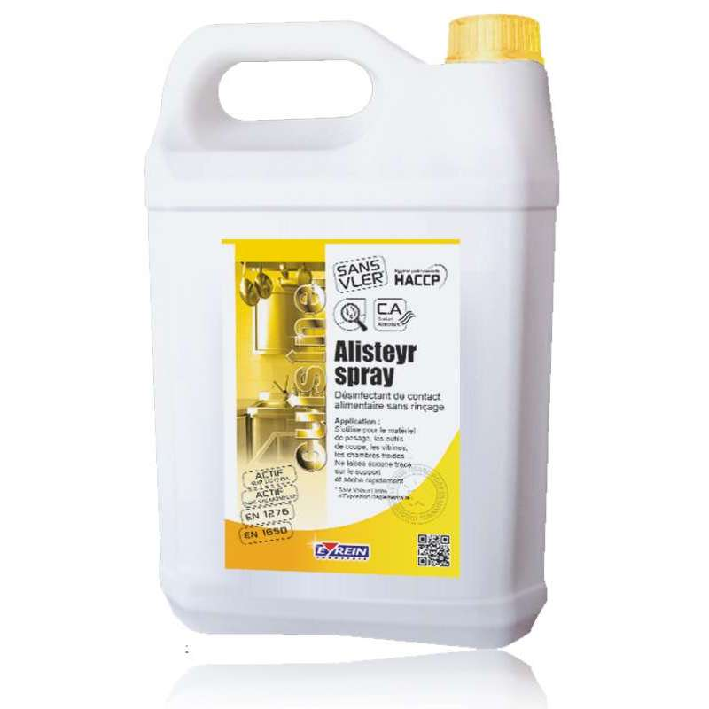ALISTEYR SPRAY - Bidon 5 L - Désinfectant neutre alimentaire