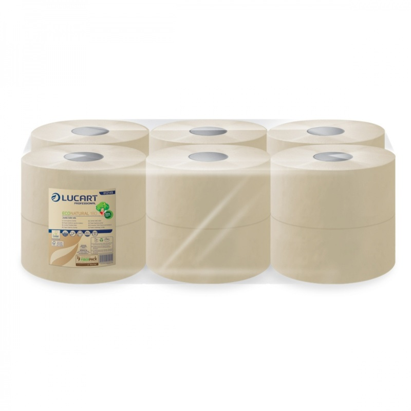 PAPIER TOILETTE  MINI JUMBO  ECONATURAL x 12