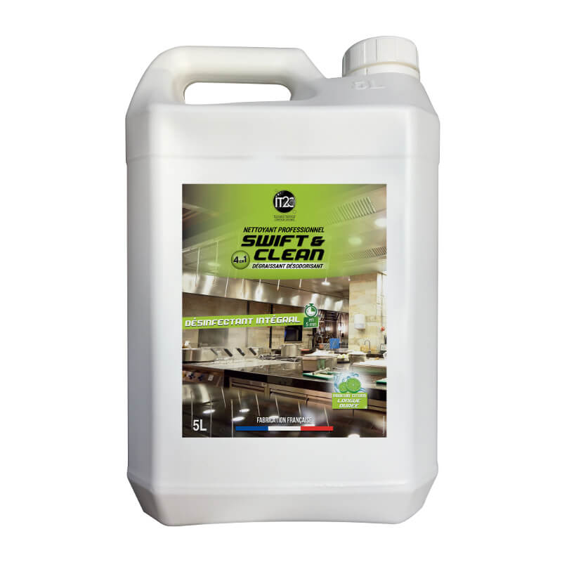 NETTOYANT DESINFECTANT INTEGRAL SWIFT & CLEAN 4 EN 1 - Bidon 5 L