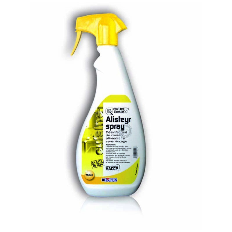 ALISTEYR SPRAY - Pulvé.750 ML - Désinfectant de contact alimentaire sans rinçage