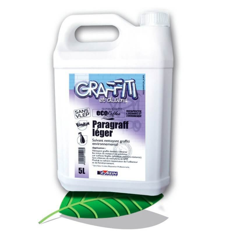 PARAGRAFF LEGER - BIDON 5 L - Solvant nettoyant anti graffitis surfaces fragiles