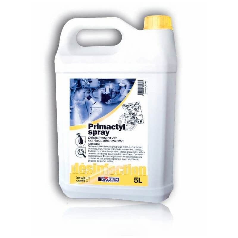 PRIMACTYL SPRAY - Bidon 5 L - Désinfectant de surfaces de contact alimentaire