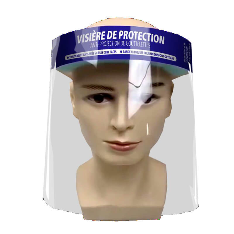 VISIERE DE PROTECTION FT 400 V2 anti-projections avec maintien par élastique